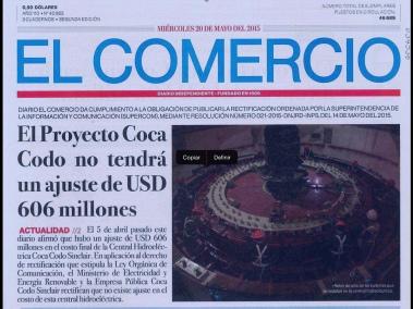 el comercio, 20 may. 2015